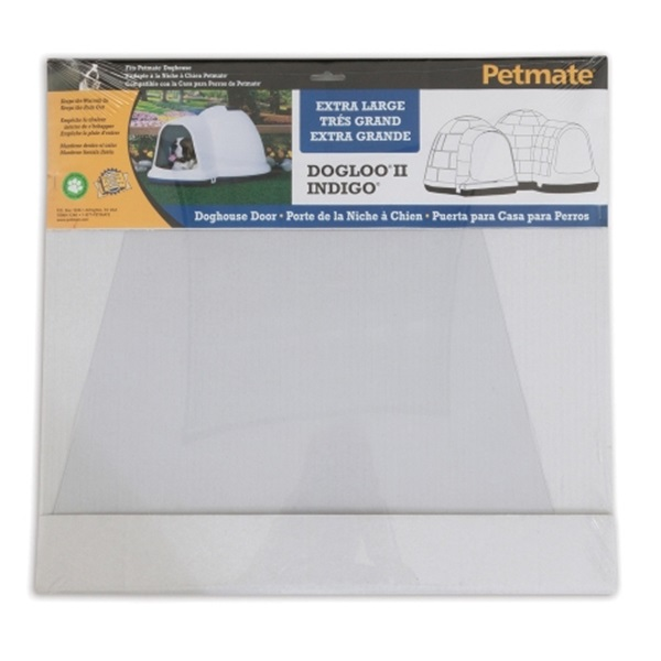 Picture of PETMATE Dogloo II Indigo 29998 Dog House Door, 17.66 in W, 1/4 in H, Vinyl, Frosted
