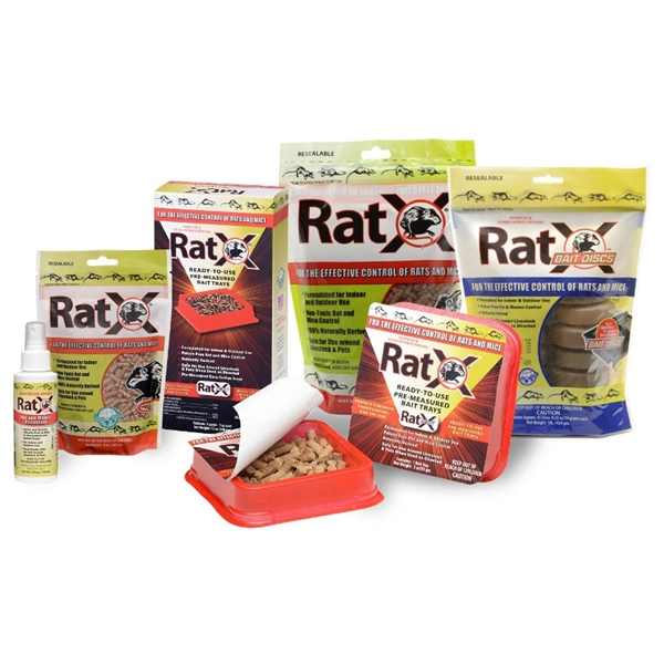 Picture of RatX 620100 Rodent Bait, Pellet, 8 oz Package, Bag