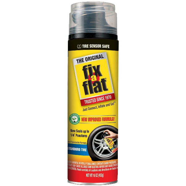 Picture of Fix-A-Flat S60420 Tire Repair Inflator, 16 oz Package, Can, Characteristic