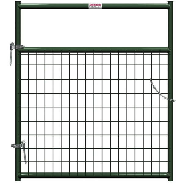 Picture of Behlen Country 40132042 Wire-Filled Gate, 48 in W Gate, 50 in H Gate, 6 ga Mesh Wire, 2 x 4 in Mesh, Green