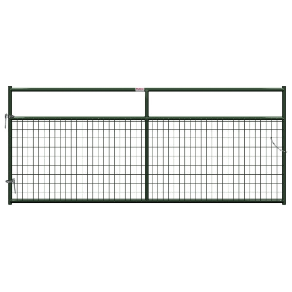 Picture of Behlen Country 40132102 Wire-Filled Gate, 120 in W Gate, 50 in H Gate, 6 ga Mesh Wire, 2 x 4 in Mesh, Green