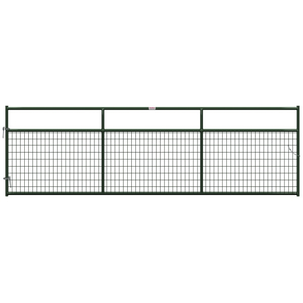 Picture of Behlen Country 40132142 Wire-Filled Gate, 168 in W Gate, 50 in H Gate, 6 ga Mesh Wire, 2 x 4 in Mesh, Green