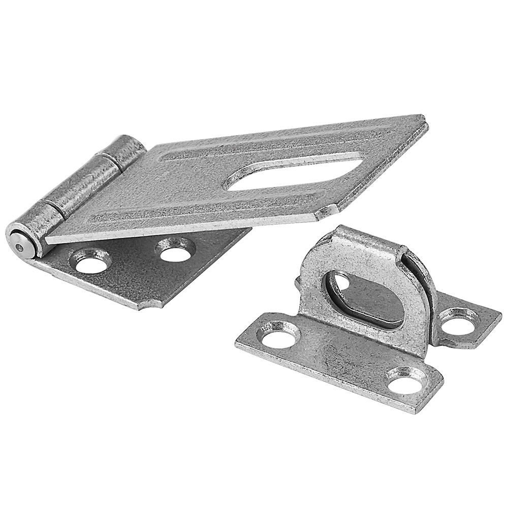 Picture of National Hardware V30 Series N102-749 Safety Hasp, 3-1/4 in L, 1-1/2 in W, Galvanized Steel, 0.44 in Dia Shackle