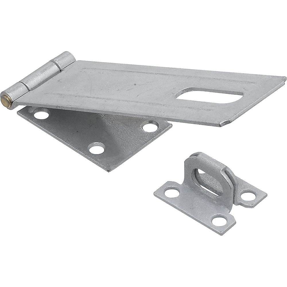 Picture of National Hardware V30 Series N102-780 Safety Hasp, 6 in L, 1-3/4 in W, Galvanized Steel, Non-Swivel Staple
