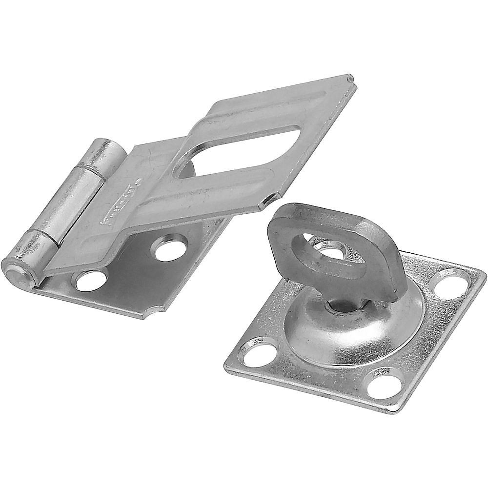 Picture of National Hardware V32 Series N102-855 Safety Hasp, 3-1/4 in L, 1-1/2 in W, Steel, Zinc, 0.41 in Dia Shackle