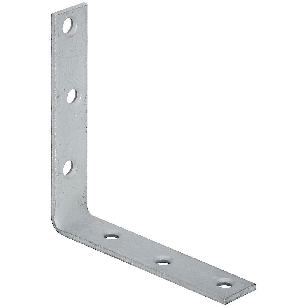 Picture of National Hardware 115BC Series N220-210 Corner Brace, 5 in L, 1 in W, 5 in H, Galvanized Steel, 0.16 Thick Material