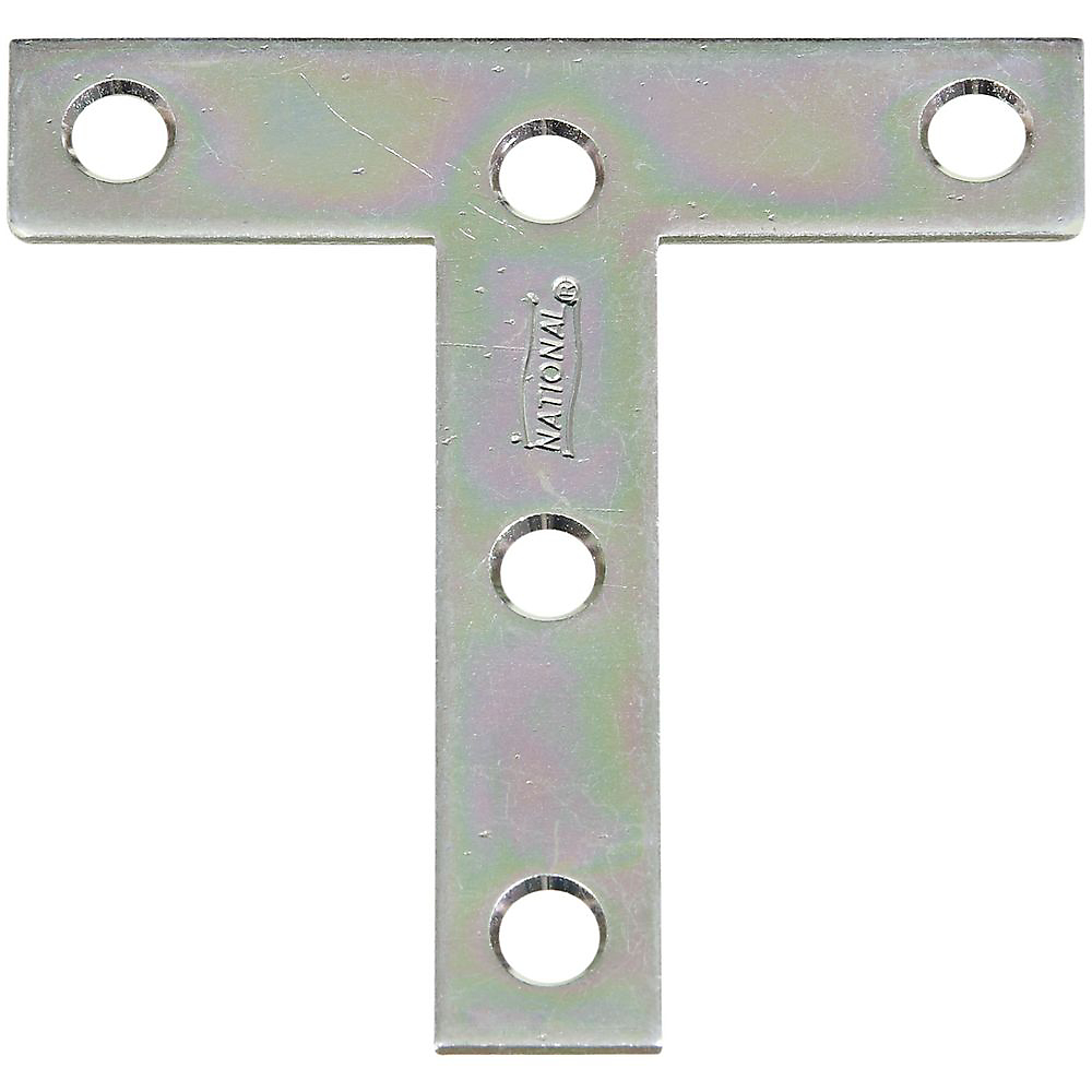 Picture of National Hardware V116 Series N113-704 T-Plate, 3 in L, 0.07 in Thick, Steel, Zinc