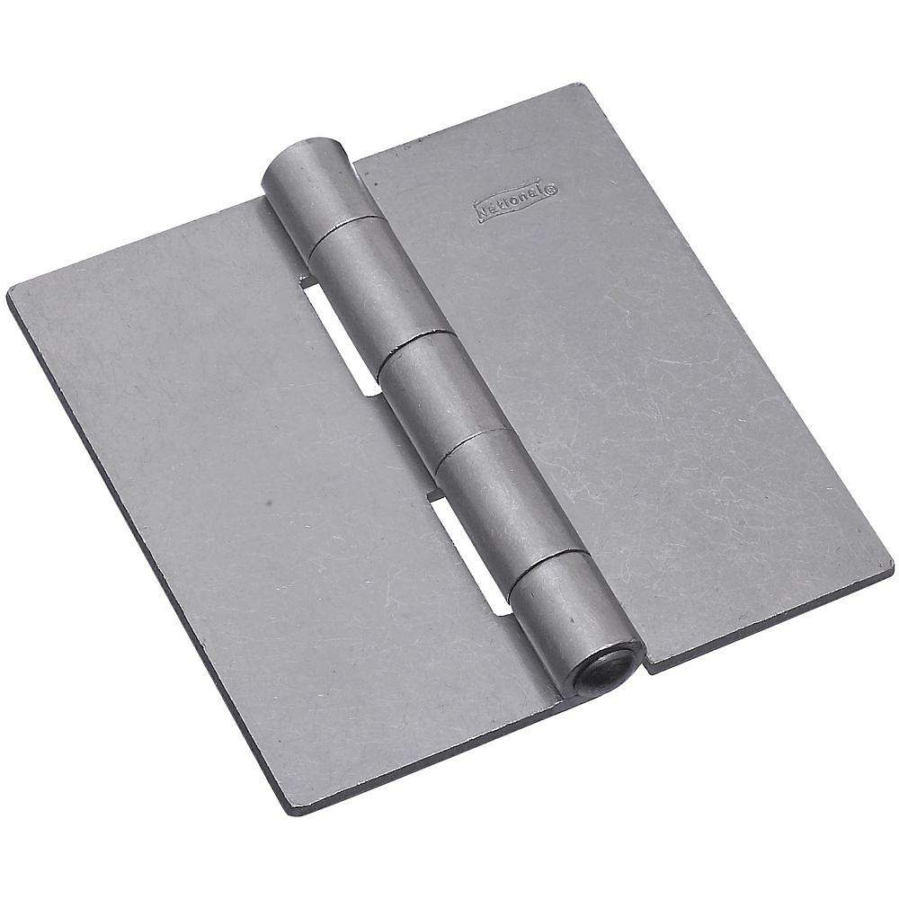 Picture of National Hardware 560 Series N147-884 Door Hinge, 4 in W Door Leaf, 4 in H Door Leaf, 0.14 in Thick Door Leaf, Steel