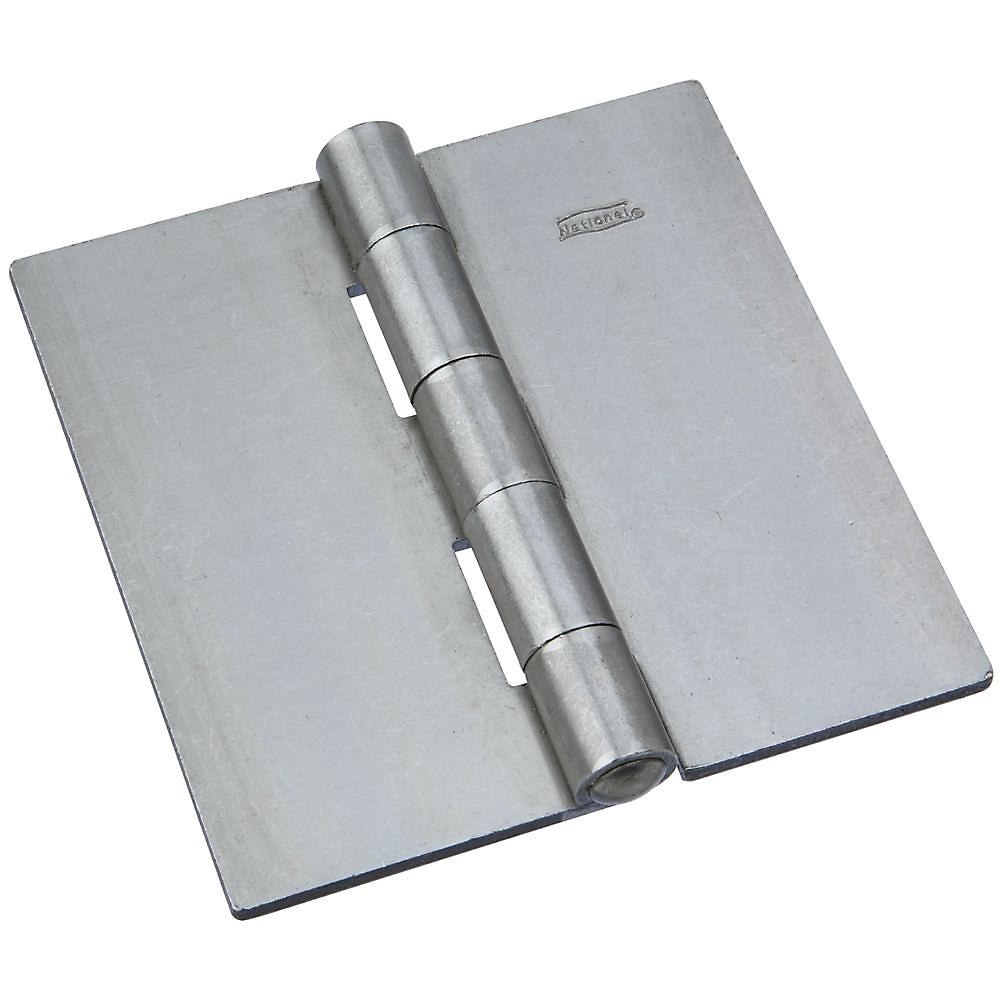 Picture of National Hardware 560BC Series N273-938 Door Hinge, 4-1/2 in W Door Leaf, 4-1/2 in H Door Leaf, Steel, Plain, 38 lb
