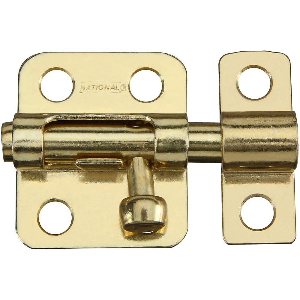 Picture of National Hardware V833 Series N151-266 Window Bolt, Steel, Brass