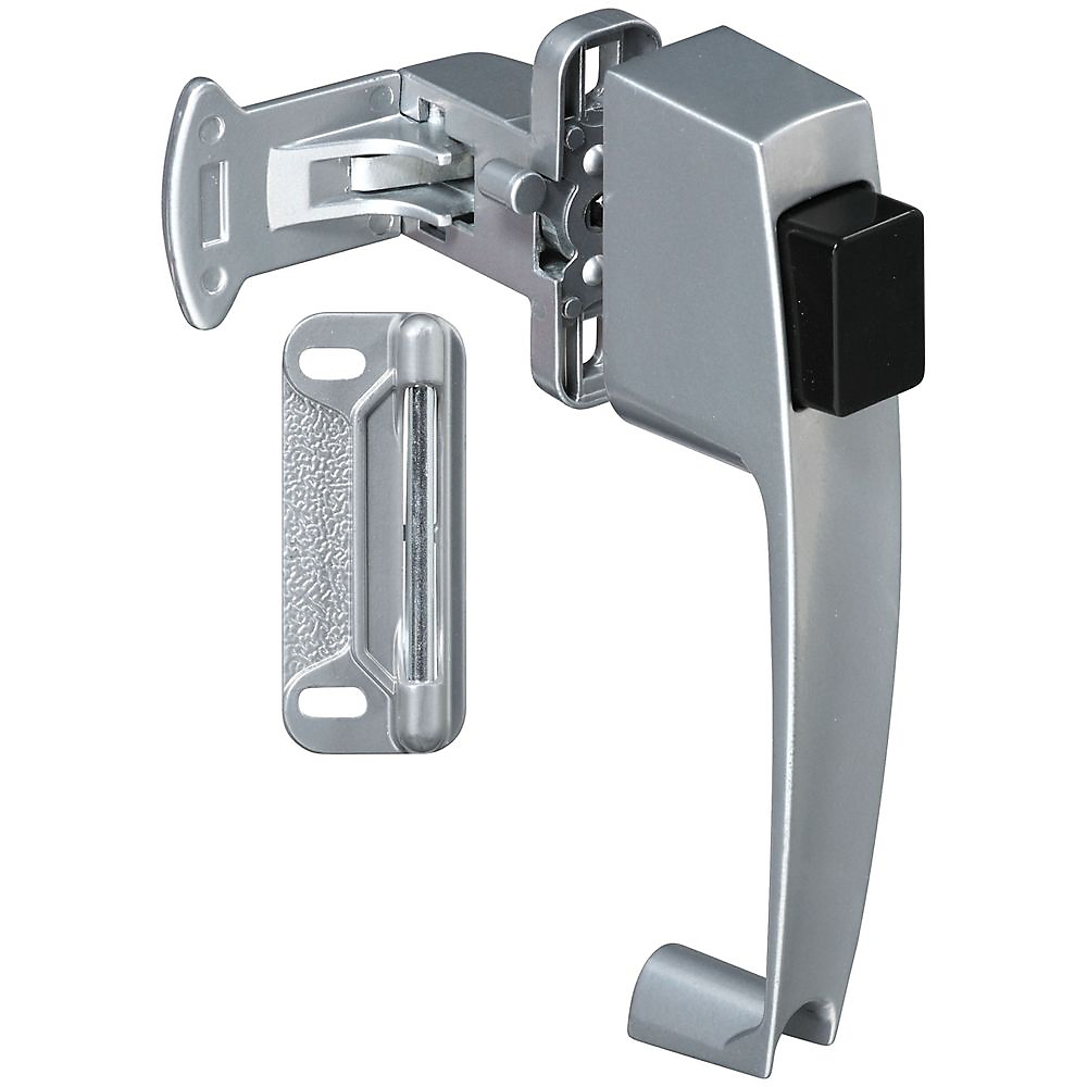 Picture of National Hardware V1316 Series N178-368 Pushbutton Latch, Zinc, 5/8 to 2 in Thick Door