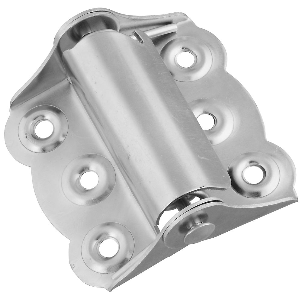 Picture of National Hardware N190-736 Spring Hinge, Steel, Zinc, Wall Mounting, 15 lb