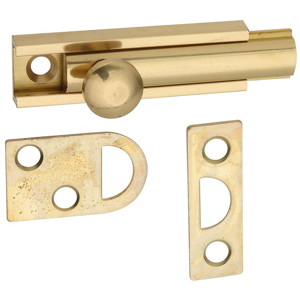 Picture of National Hardware V1922 Series N197-962 Flush Bolt, Solid Brass
