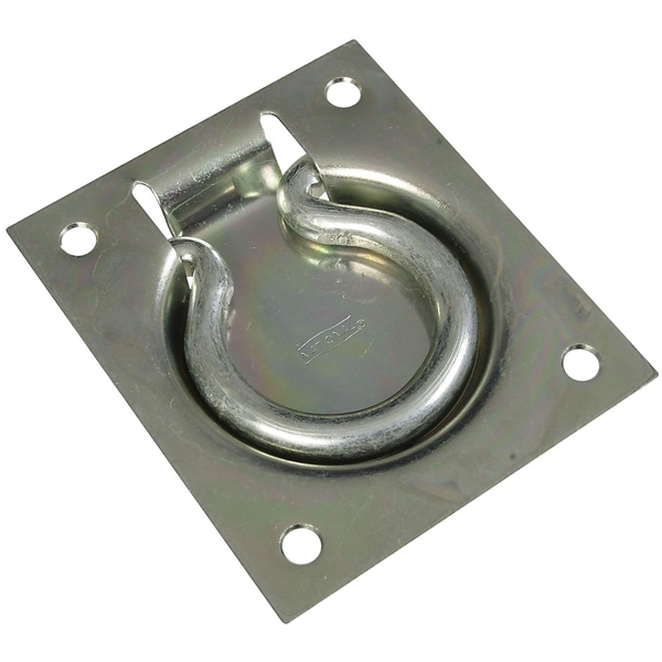 Picture of National Hardware V177 Series N203-752 Flush Ring Pull, 3 in L, Steel, Zinc