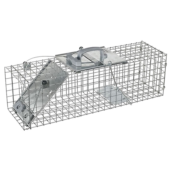 Picture of Victor 1083 Animal Trap, 7 in W, 7 in H, Spring-Loaded Door