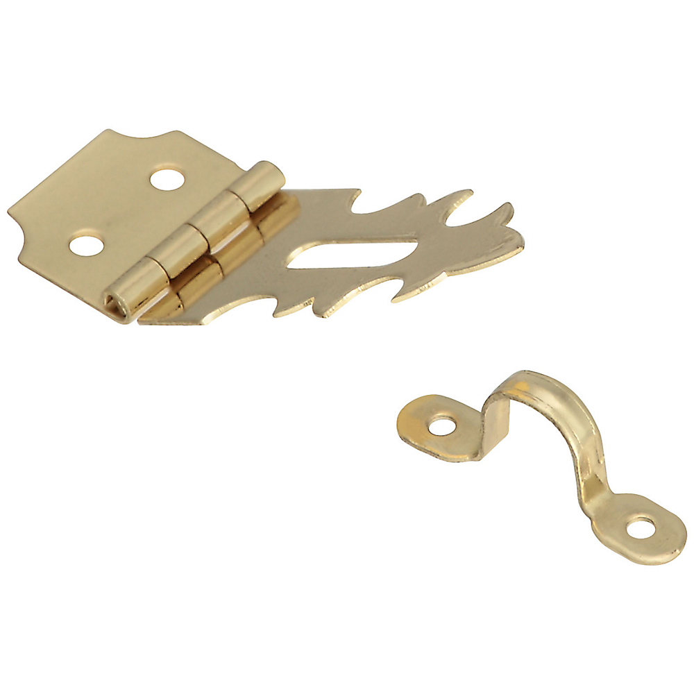Picture of National Hardware V1824 Series N211-466 Decorative Hasp, 1-7/8 in L, 5/8 in W, Brass, Solid Brass