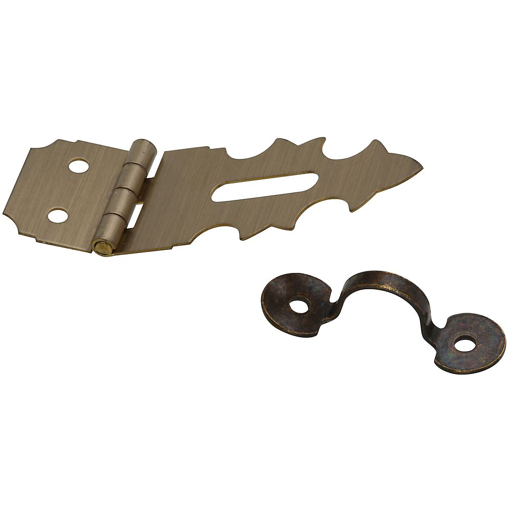 Picture of National Hardware V1824 Series N211-474 Decorative Hasp, 1-7/8 in L, 5/8 in W, Solid Brass, Antique Brass