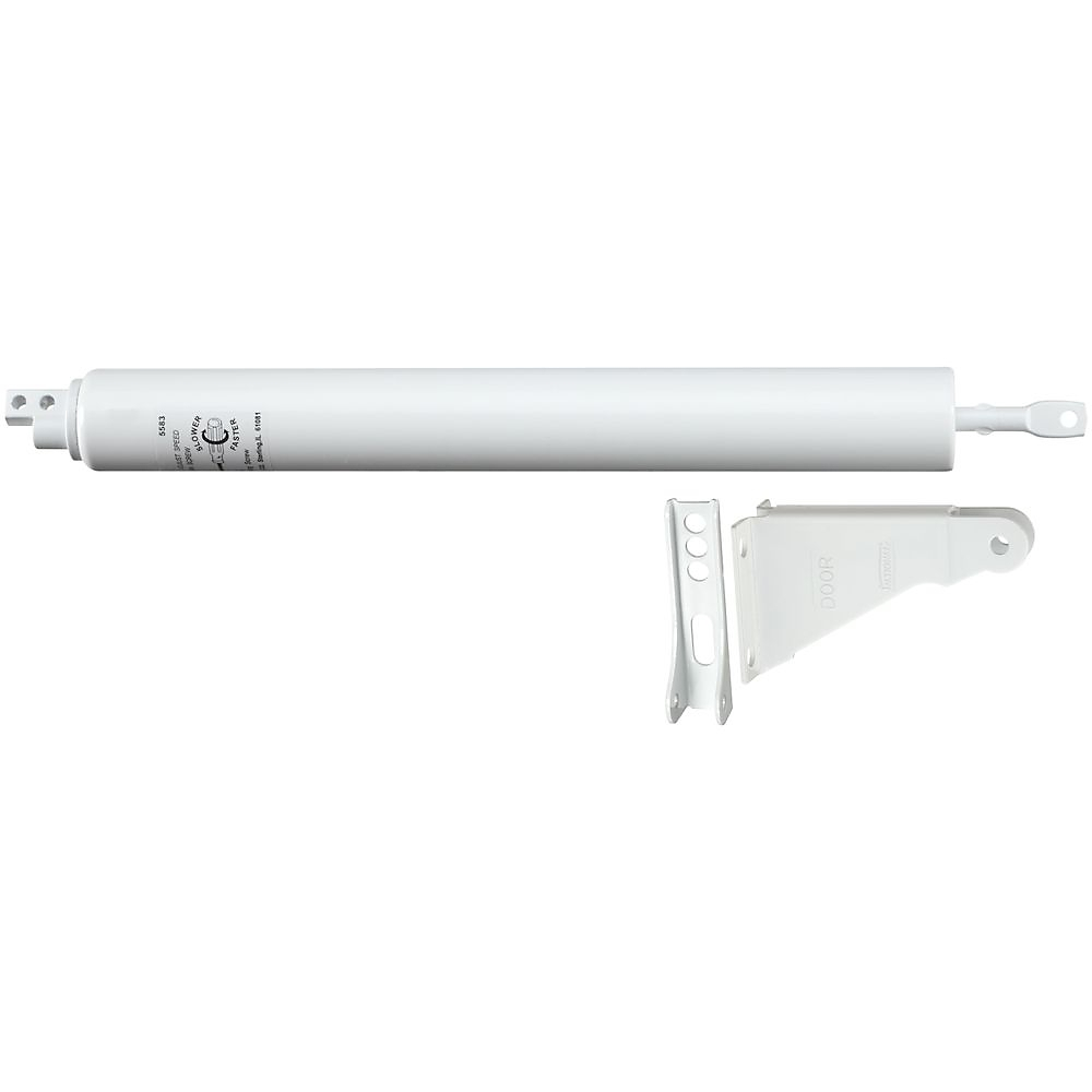 Picture of National Hardware V1333 Series N213-207 Door Closer, 5/16 in Dia Rod, 11-1/4 in L, Steel, 90 deg Opening