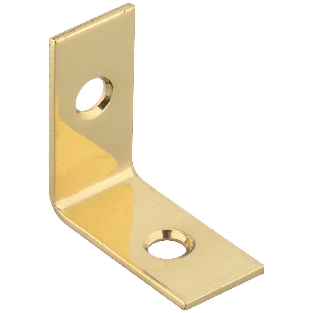 Picture of National Hardware V1875 Series N213-389 Corner Brace, 1 in L, Brass, Solid Brass, 4, Pack