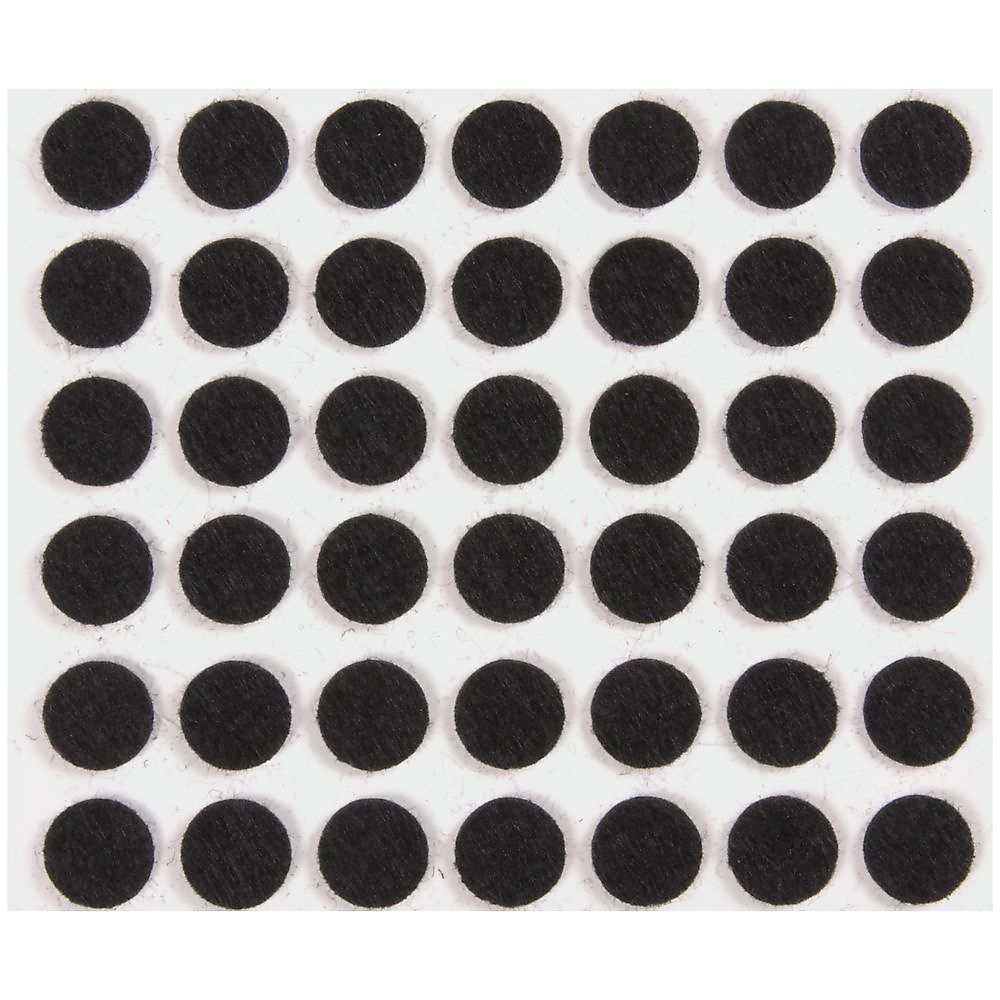 Picture of National Hardware V1716 Series N237-057 Protective Pad, Felt Cloth, Black, 3/8 in Dia, Round