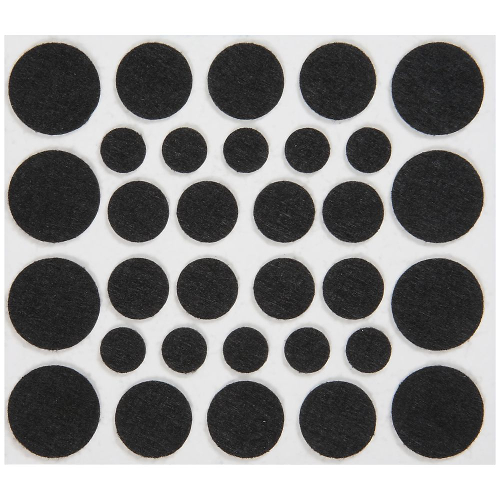 Picture of National Hardware V1717 Series N237-081 Protective Pad, Felt Cloth, Black, Round