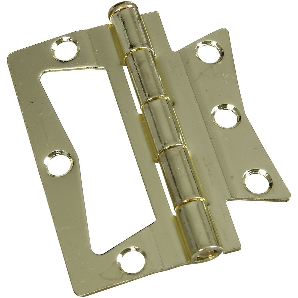 Picture of National Hardware N244-780 Door Hinge, Steel, Brass, Tight Pin, Surface Mounting
