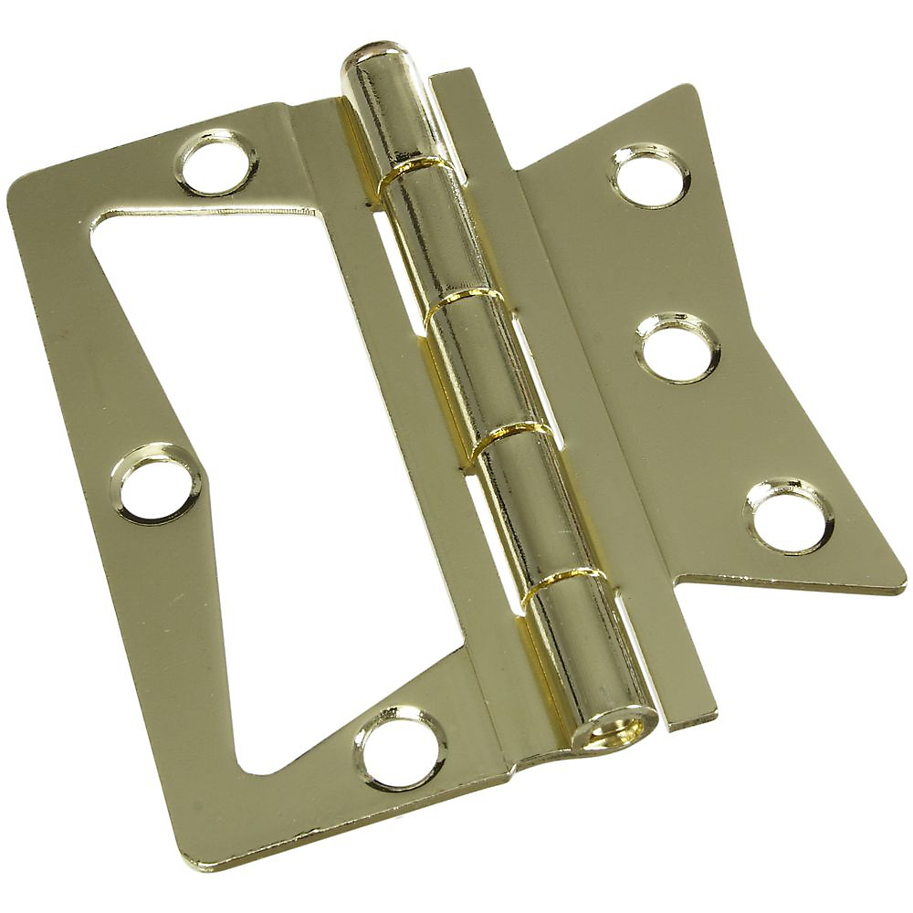 Picture of National Hardware N244-806 Door Hinge, Steel, Brass, Tight Pin, Surface Mounting