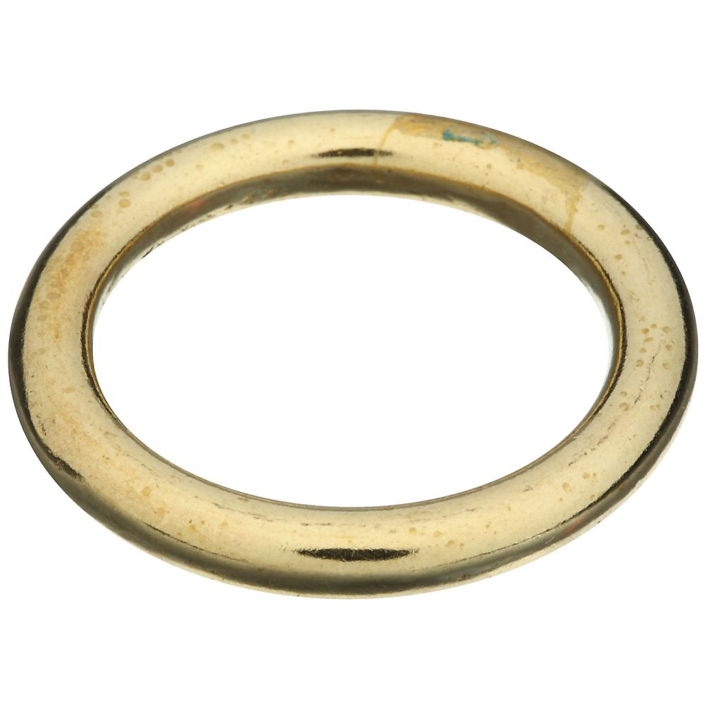 Picture of National Hardware 3156BC Series N258-715 Welded Ring, 215 lb Working Load, 1-1/8 in ID Dia Ring, Solid Brass