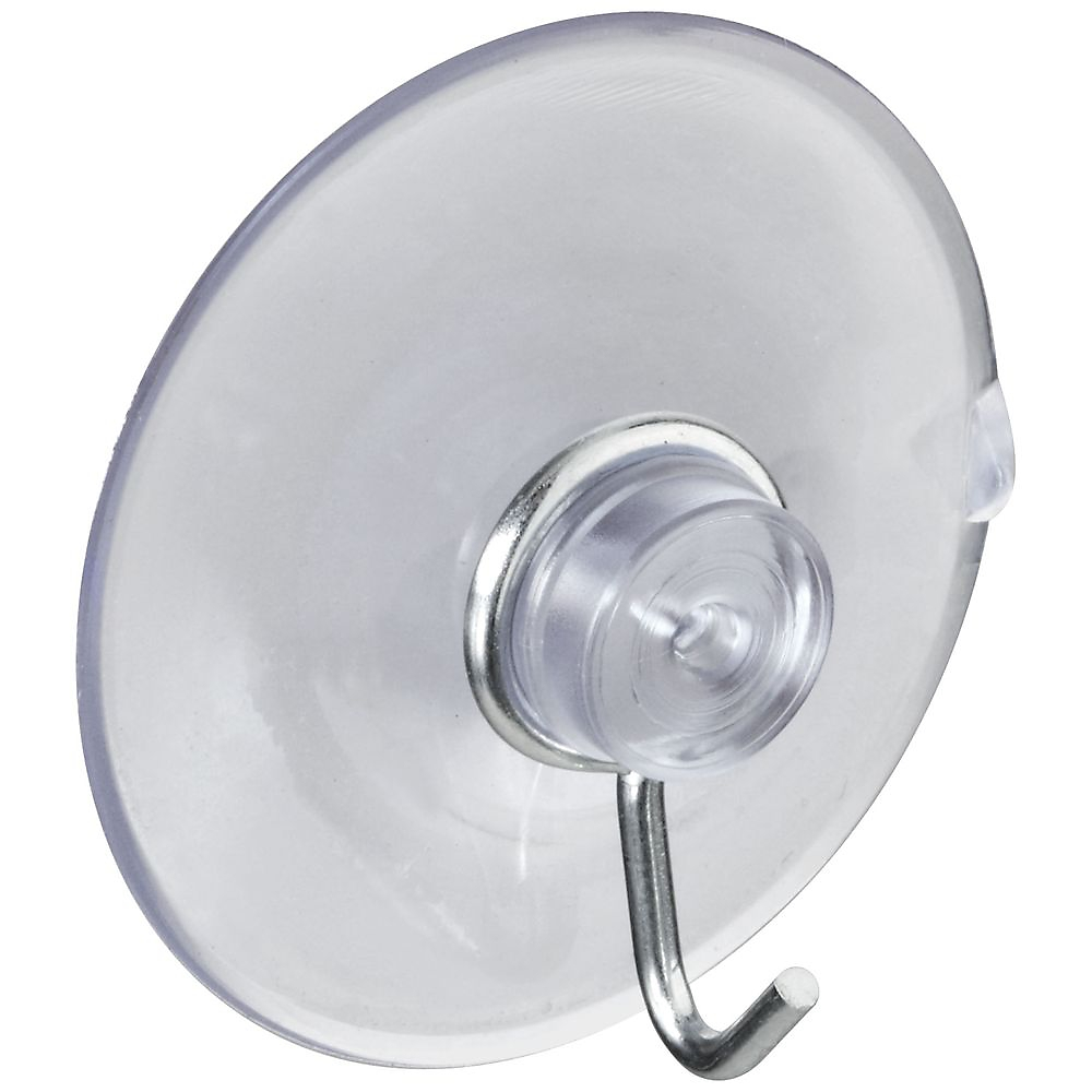 Picture of National Hardware V2524 Series N259-945 Suction Cup, Steel Hook, PVC Base, Clear Base, 2 lb Working Load
