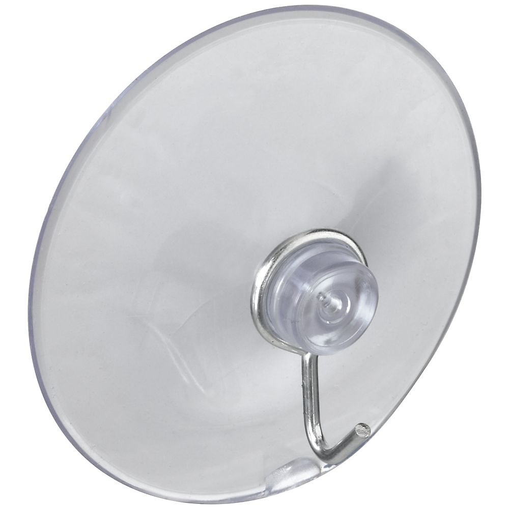 Picture of National Hardware V2524 Series N259-952 Suction Cup, Steel Hook, PVC Base, Clear Base, 2 lb Working Load