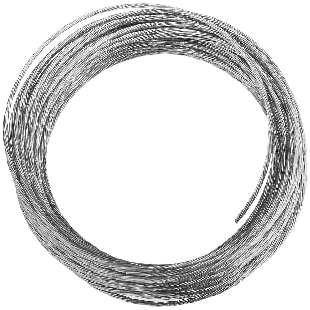 Picture of National Hardware V2565 Series N260-307 Braided Wire, 25 ft L, Galvanized Steel, 20 lb, Pack