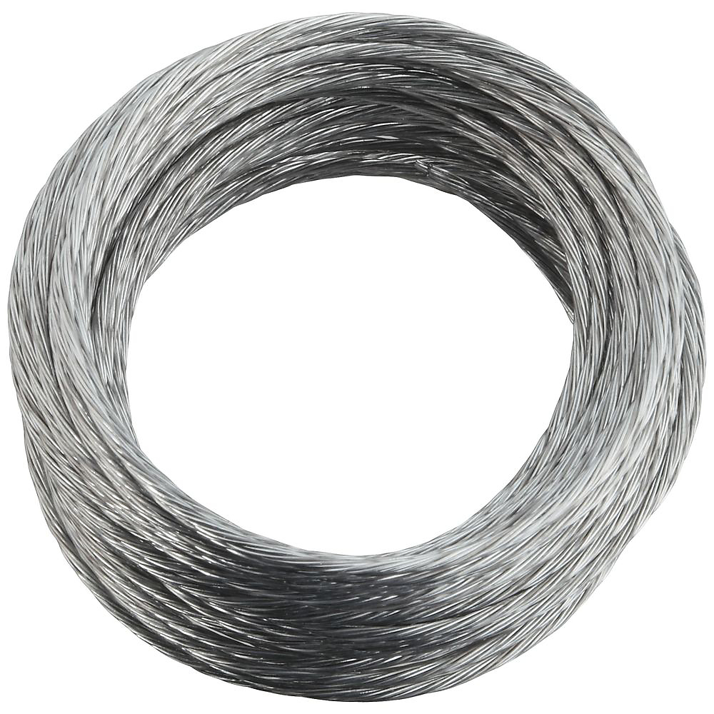 Picture of National Hardware V2565 Series N260-315 Braided Wire, 25 ft L, Galvanized Steel, 25 lb, Pack