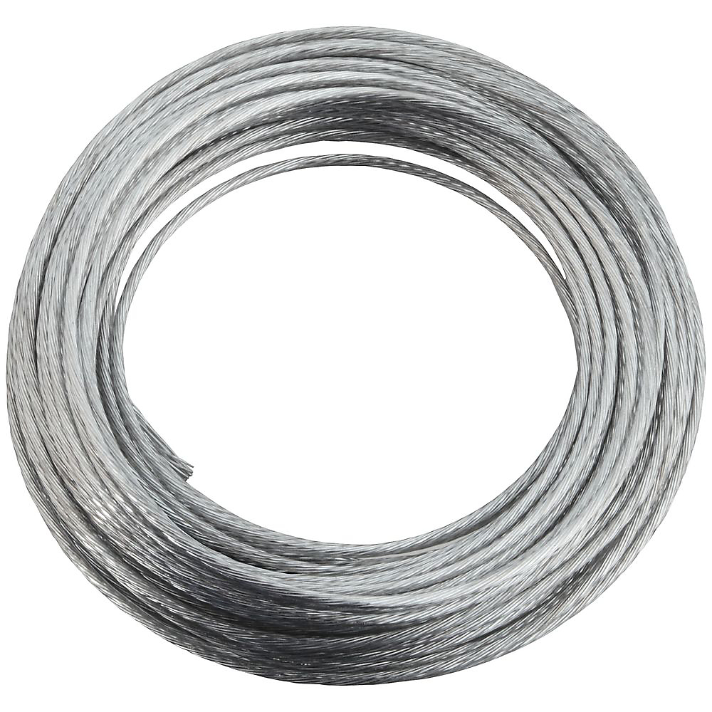 Picture of National Hardware V2565 Series N260-323 Braided Wire, 25 ft L, Galvanized Steel, 35 lb, Pack