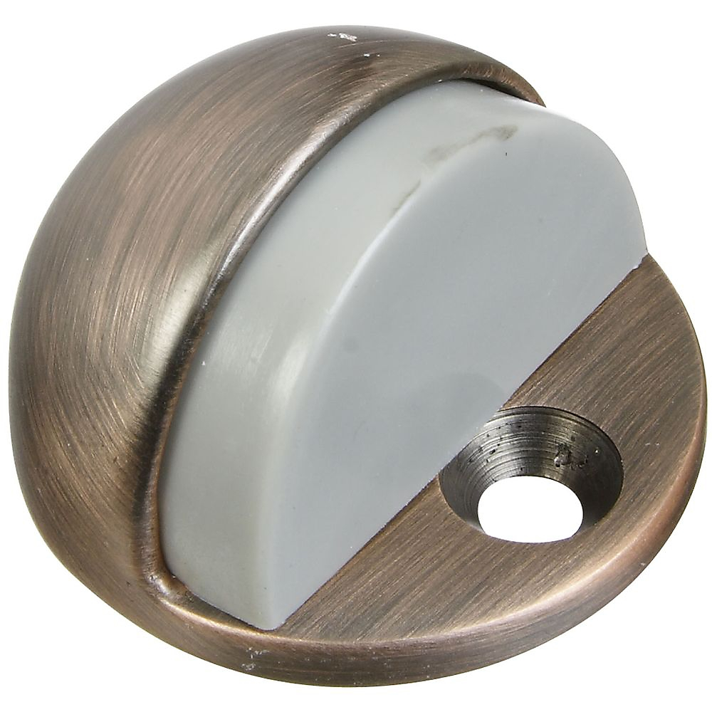 Picture of National Hardware MPB1936 Series N336-321 Door Stop, 1-11/16 in Dia Base, Brass/Rubber, Antique Bronze