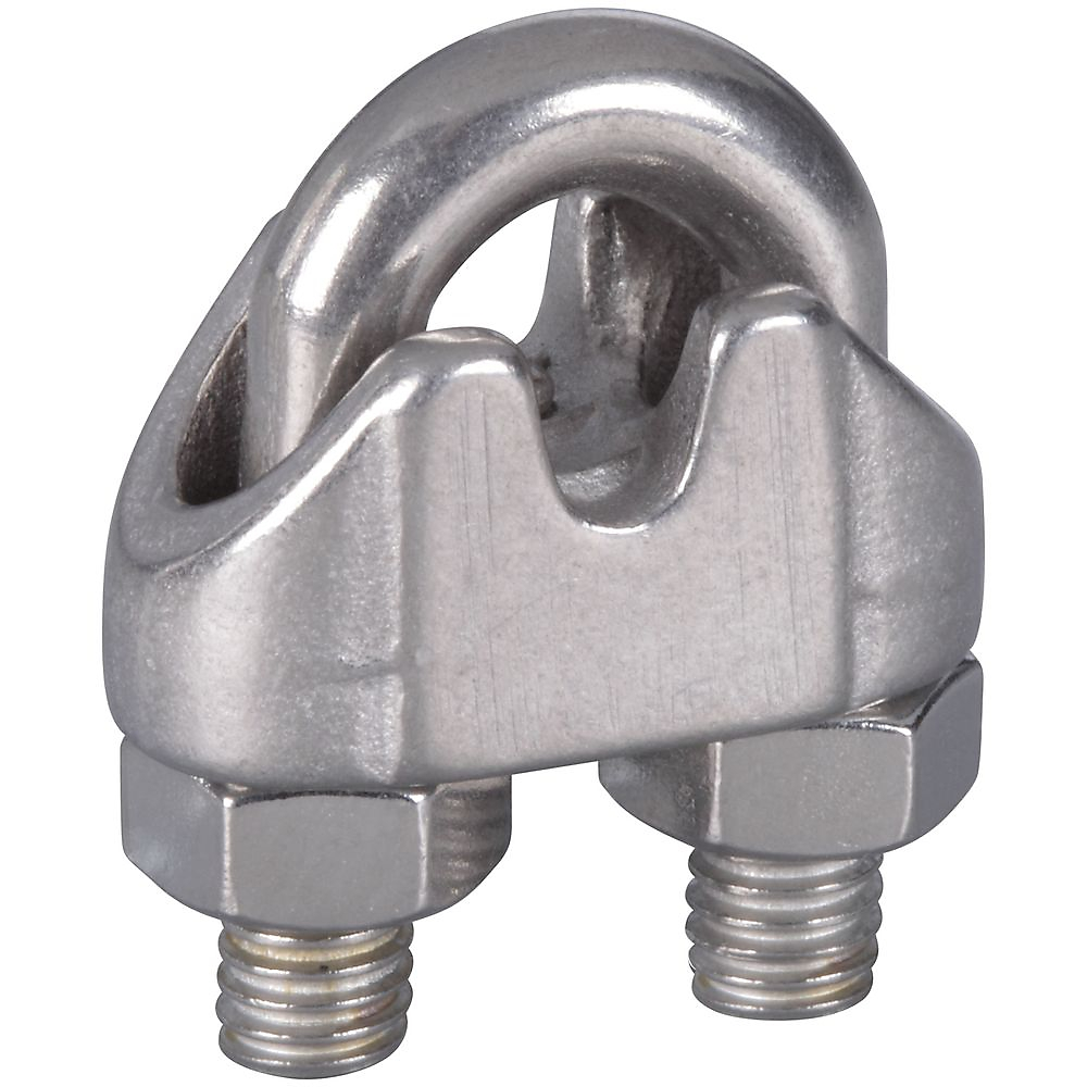 Picture of National Hardware V4230 Series N348-896 Wire Cable Clamp, 3/16 in Dia Cable, Stainless Steel