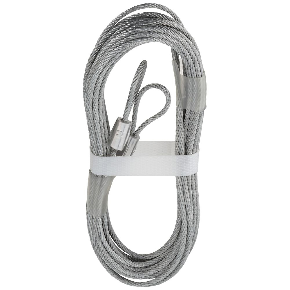 Picture of National Hardware V7617 Series N280-297 Extension Spring Lift Cable, 12 ft OAL, Galvanized Steel, Fused End