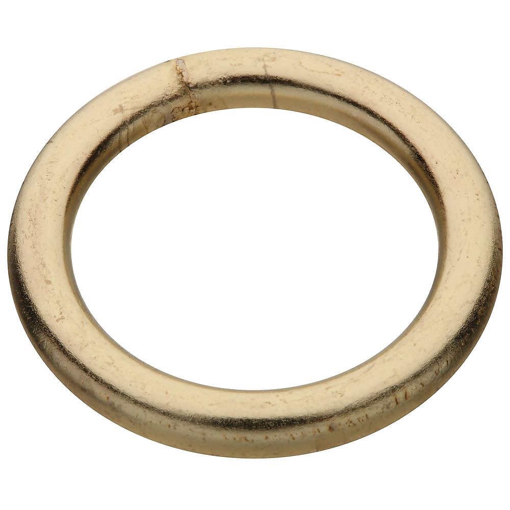Picture of National Hardware 3155BC Series N244-103 Welded Ring, 270 lb Working Load, 1-1/4 in ID Dia Ring, #4 Chain, Steel