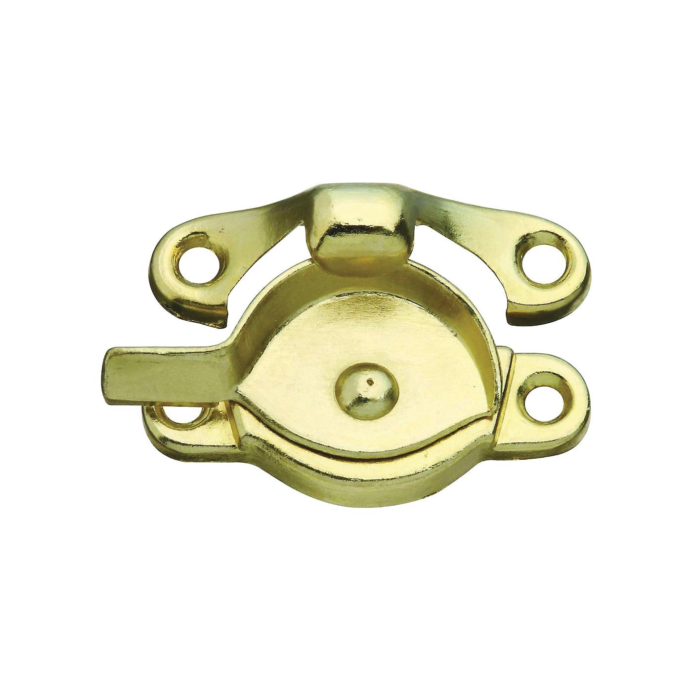 Picture of National Hardware SPB600 Series N171-546 Sash Lock, Zinc, Antique Brass