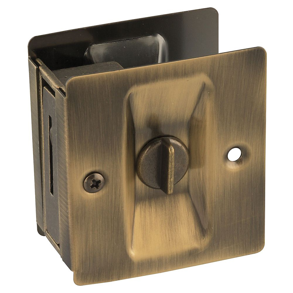 Picture of National Hardware V1951 Series N336-420 Door Latch, Pocket Latch, Solid Brass, Antique Brass