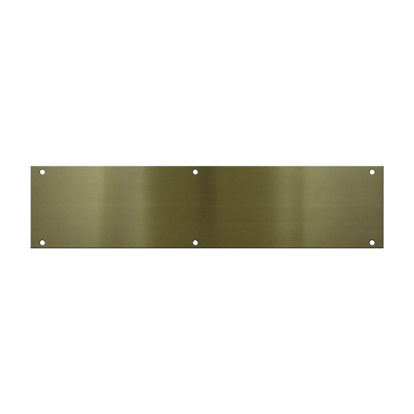 Picture of National Hardware V1981 Series N336-628 Push Plate, Aluminum, Antique Brass, 3-1/2 in L, 15 in W, Screw Mounting