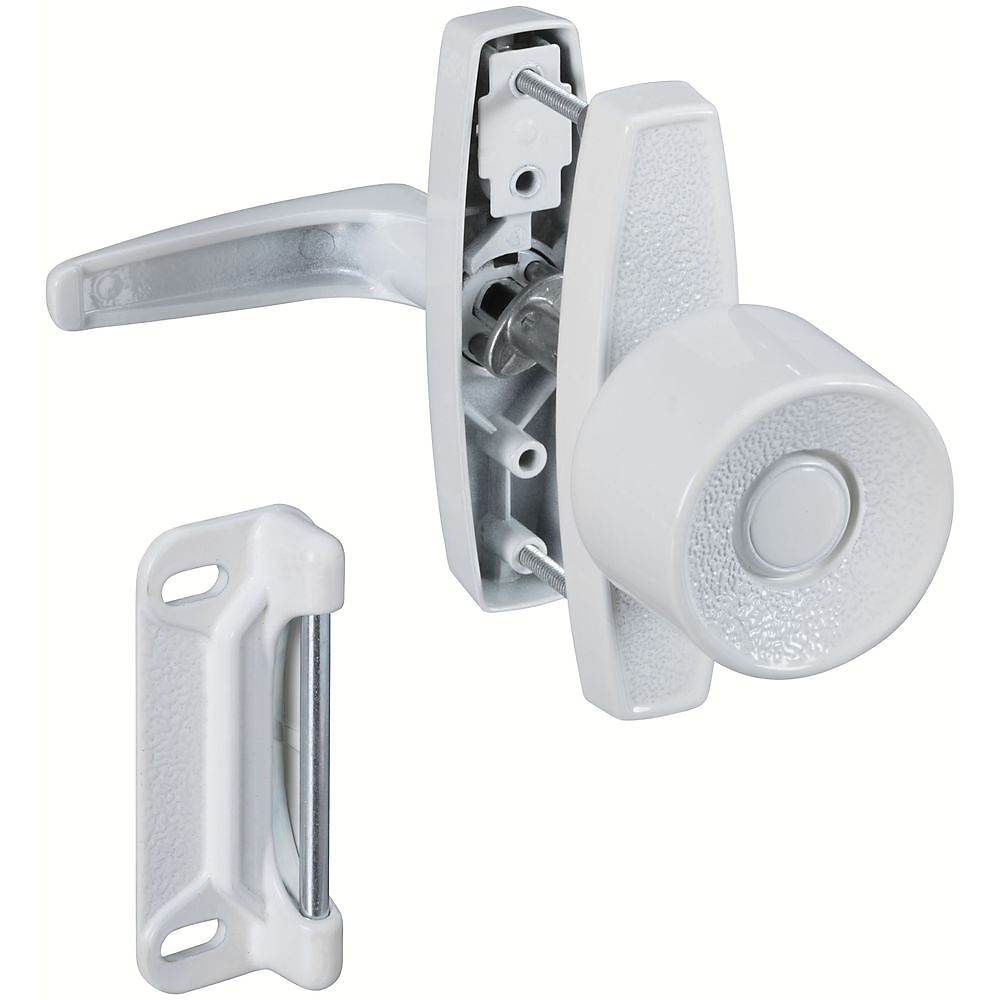 Picture of National Hardware V1307 Series N212-993 Knob Latch, Zinc, 5/8 to 1-3/8 in Thick Door