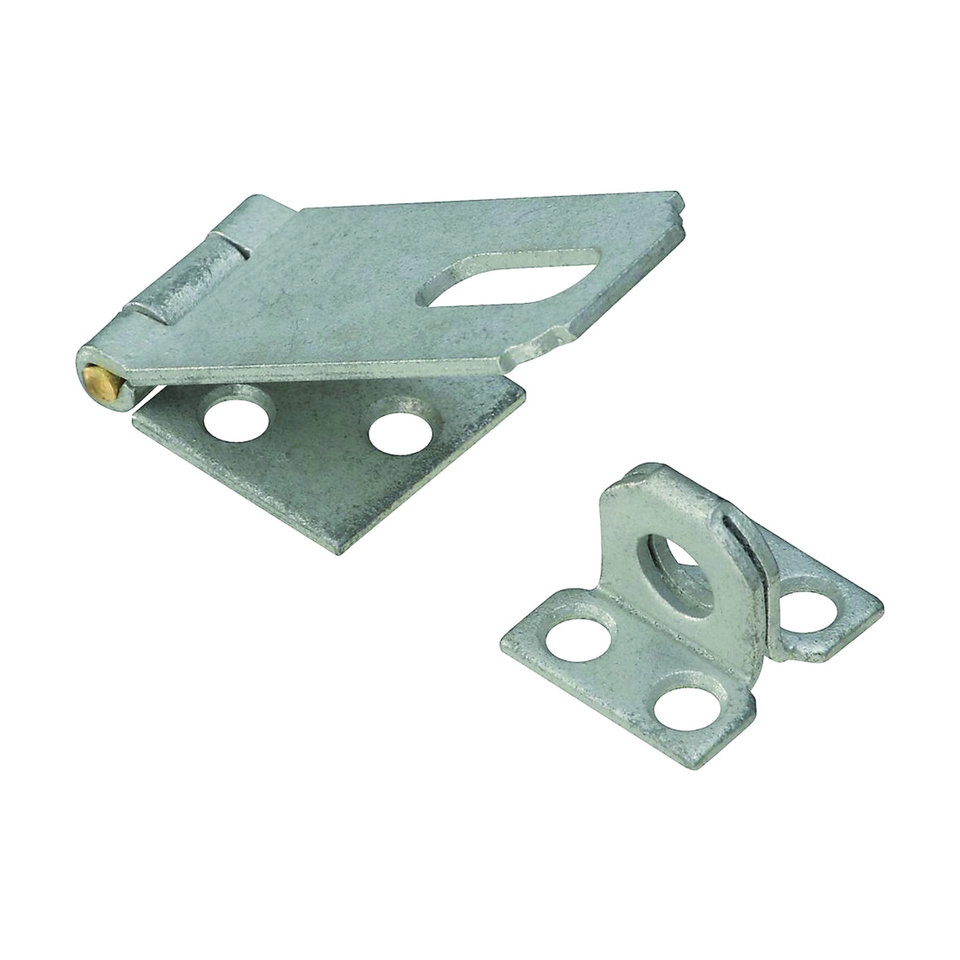 Picture of National Hardware V30 Series N102-723 Safety Hasp, 2-1/2 in L, Galvanized Steel, Non-Swivel Staple