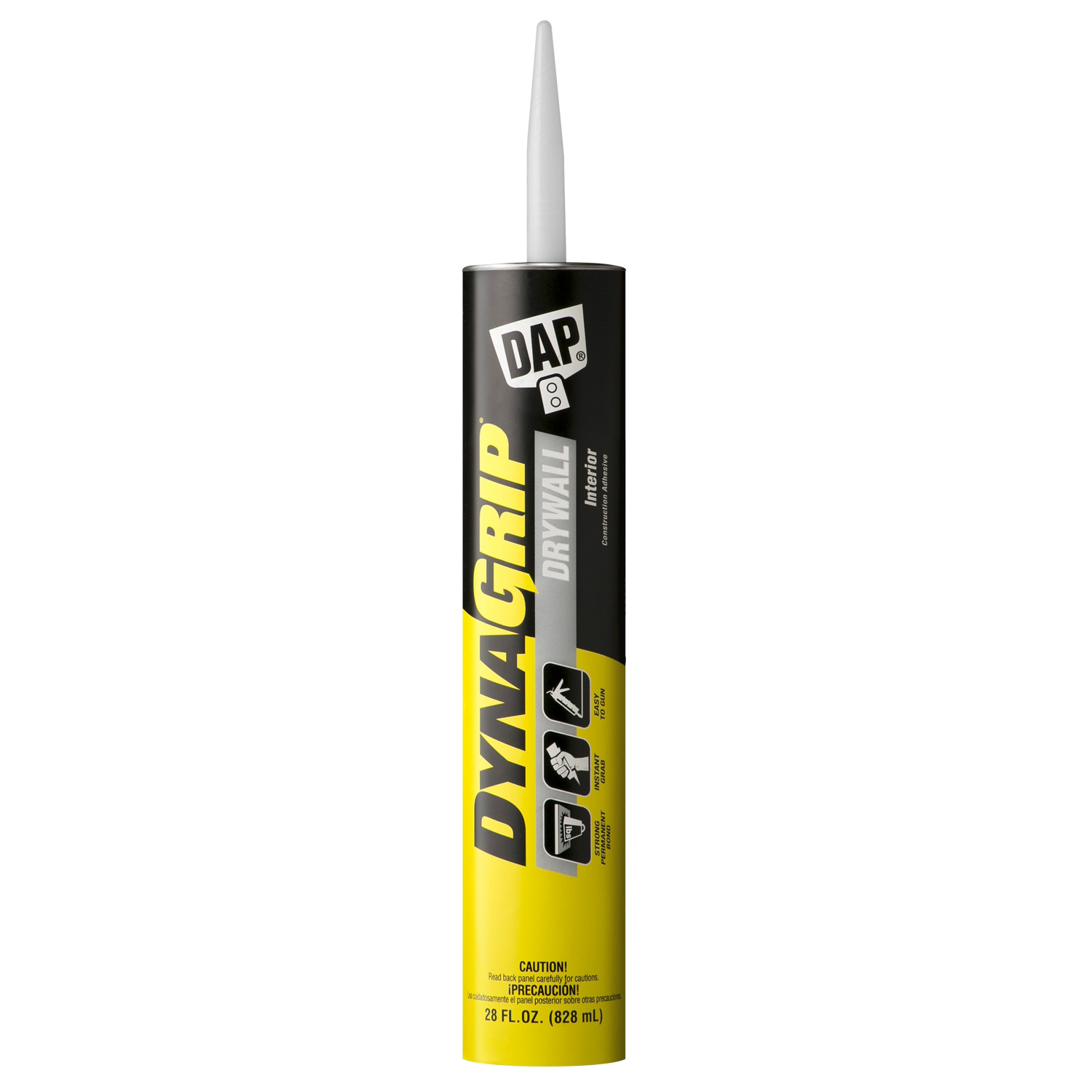 Picture of DAP DYNAGRIP 27518 Drywall Construction Adhesive, Off-White, 28 oz Package, Cartridge