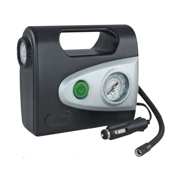 Picture of Slime 40032 Tire Inflator, 12 V, 0 to 100 psi Pressure, Dial Gauge