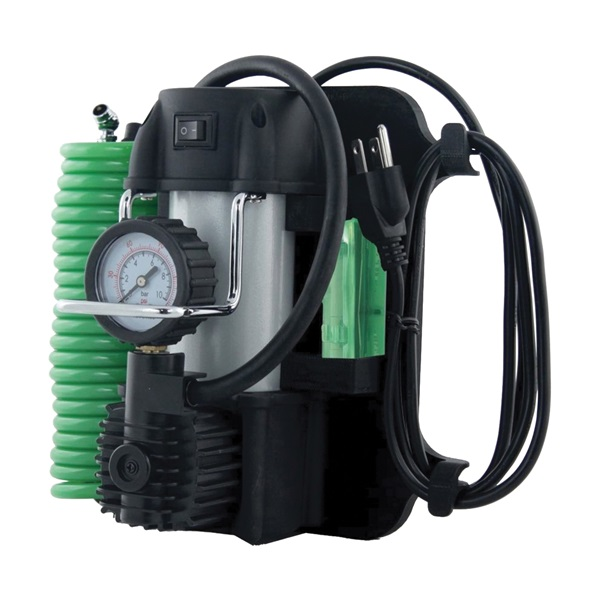 Picture of Slime 40045 Garage Tire Inflator, 120 V, 0 to 150 psi Pressure, Dial Gauge