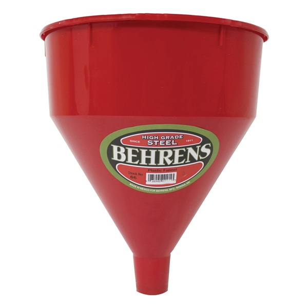 Picture of Behrens 66 Funnel, 5 qt Capacity, Plastic, Red, 10-1/2 in H