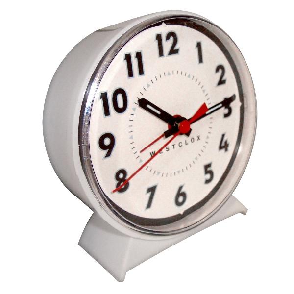 Picture of Westclox 15550 Alarm Clock, Plastic Case, White Case