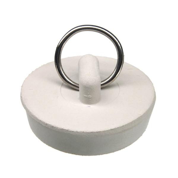 Picture of Danco 80227 Drain Stopper, Rubber, White, For: 1-1/2 in Drain, Universal Sink