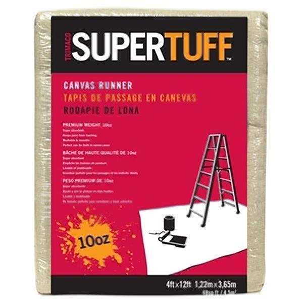 Picture of Trimaco SUPERTUFF 51127 Drop Cloth, 12 ft L, 4 ft W, Canvas
