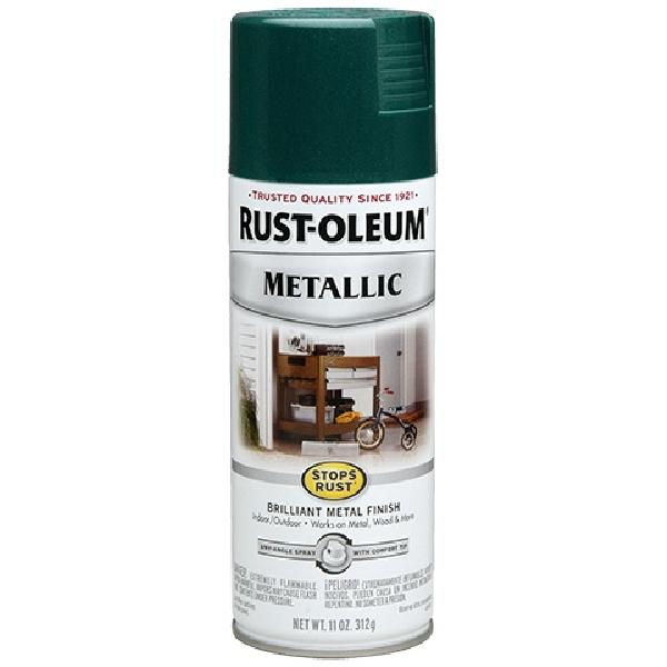 Picture of RUST-OLEUM 7252830 Spray Paint, Metallic, Racing Green, 11 oz, Aerosol Can